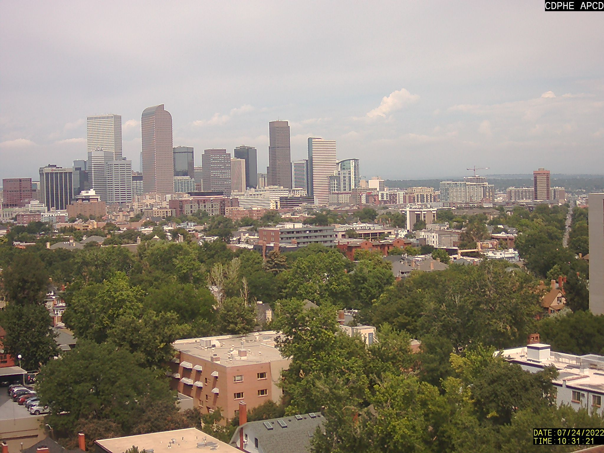 Colorado Department of Public Health and Environment - Air Pollution Cam in Denver